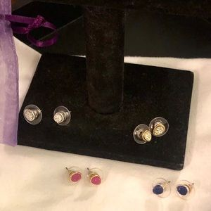 Lot❗️4 pair of Bean Shaped, Druzy Stud Earrings.
